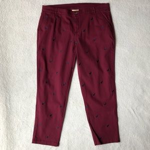 ModCloth Legendary Lifestyle Pants in Maroon Cat